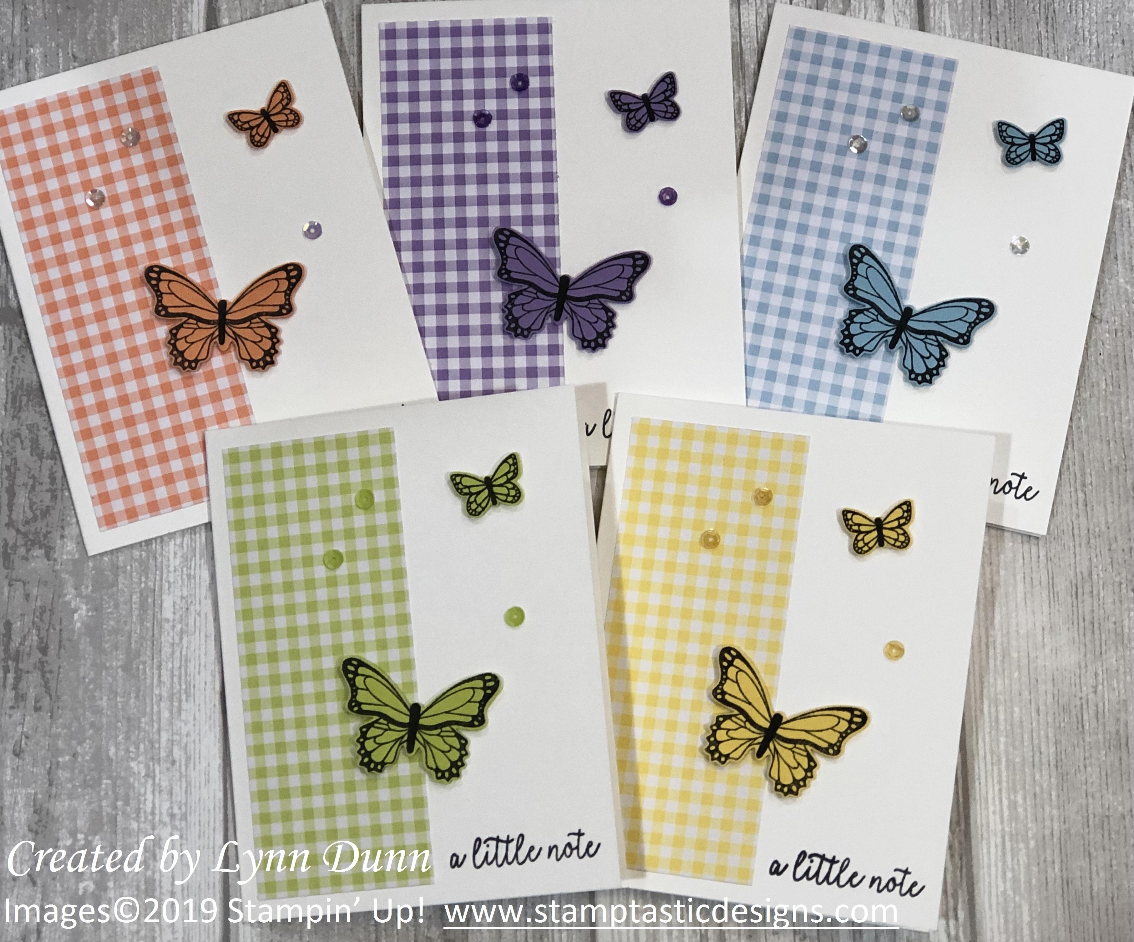 Butterfly Gala One Sheet Wonder Card Ideas Lynn Dunn